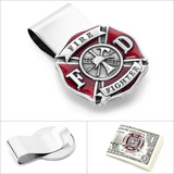 Enamel Firefighter Money Clip Novelty