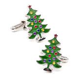 Decorated Christmas Tree Cufflinks Novelty