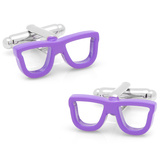 Cool Cut Purple Shades Cufflinks Novelty