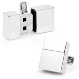 Silver USB 4GB Cufflinks Novelty
