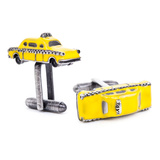 Enamel Taxi Cab Cufflinks Novelty