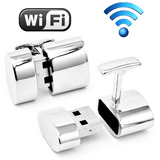 Polished Silver Oval WIFI and 2GB USB Combination Cufflinks Novelty