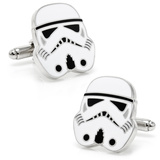 Star Wars Storm Trooper Head Cufflinks Novelty