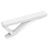 White Stainless Steel Tie Clip Novelty