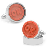 OK Stamp Cufflinks Novelty
