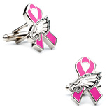 Philidelphia Eagles Breast Cancer Awareness Cufflinks Novelty