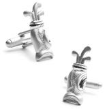 Plated Golf Bag Cufflinks Novelty
