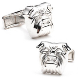 Sterling Bulldog Cufflinks Novelty