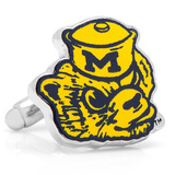 Vintage Michigan Wolverines Cufflinks Novelty