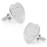 Silver Police Badge Cufflinks Novelty