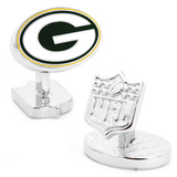 Palladium Green Bay Packers Cufflinks Novelty