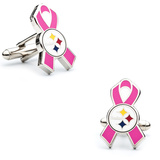 Pittsburgh Steelers Breast Cancer Awareness Cufflinks Novelty