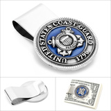 Pewter U.S. Coast Guard Money Clip Novelty