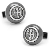 Sterling Gear Shifter Cufflinks Novelty