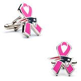 New England Patriots Breast Cancer Awareness Cufflinks Novelty