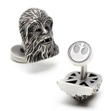 Star Wars 3-D Antique Palladium Chewbacca Cufflinks Novelty