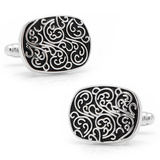 Silver Filigree Cufflinks Novelty