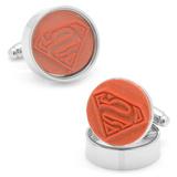 Superman Rubber Stamp Cufflinks Novelty