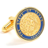 State of Texas Seal Cufflinks Novelty