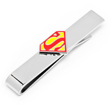 Enamel Superman Shield Tie Bar Novelty