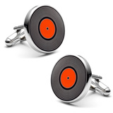 Old 45 Record Cufflinks Novelty