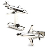 Sterling Private Jet Cufflinks Novelty