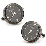 Black Stainless Steel Functional Watch Cufflinks Novelty
