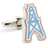 Vintage Houston Oilers Cufflinks Novelty