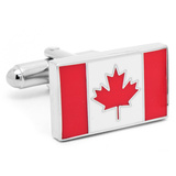 Canadian Flag Cufflinks Novelty