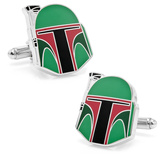Star Wars Boba Fett Helmet Cufflinks Novelty