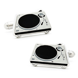 DJ Turntable Cufflinks Novelty