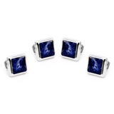 Silver and Lapis JFK Presidential Studs Novelty