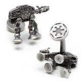 Star Wars 3-D Antique Palladium AT-AT Walker Cufflinks Novelty