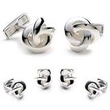 Sterling Silver Knot Stud Set Novelty
