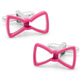 Cool Cut Pink Bowtie Cufflinks Novelty