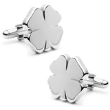 Four Leaf Clover Cufflinks Novelty