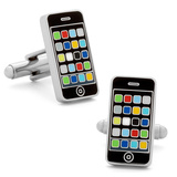 Smart Phone Cufflinks Novelty
