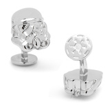 Star Wars Palladium 3-D Storm Trooper Head Cufflinks Novelty