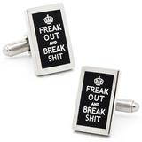 Freak Out and Break Shit Cufflinks Novelty