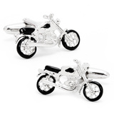 Vintage Motorcycle Cufflinks Novelty