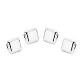 Silver and MOP JFK Presidential Studs Novelty