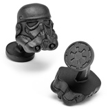 Star Wars Matte Black 3-D Storm Trooper Helmet Cufflinks Novelty