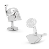 Star Wars Palladium 3-D Boba Fett Helmet Cufflinks Novelty
