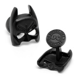 3-D Satin Black Classic Batman Mask Cufflinks Novelty