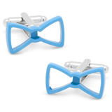 Cool Cut Blue Bowtie Cufflinks Novelty