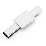 Stainless Steel Rectangular Infinity Tie Bar Novelty