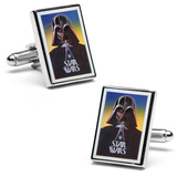 Vintage Star Wars Darth Vader Movie Poster Cufflinks Novelty