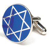 Star of David Cufflinks Novelty