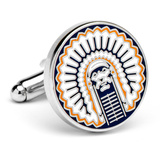 Vintage University of Illinois Fighting Illini Cufflinks Novelty