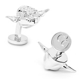 Star Wars Palladium 3-D Yoda Head Cufflinks Novelty